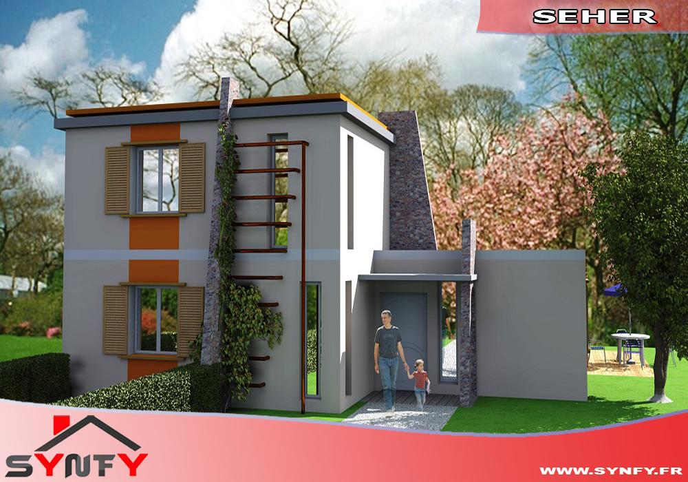 construction maison modèle pavillon SEHER, Maison moderne en cube ...