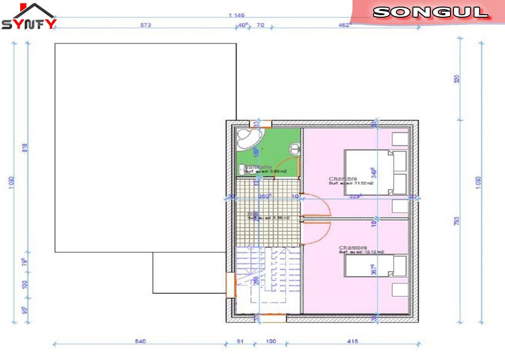 plan maison atypique plans permis de construire